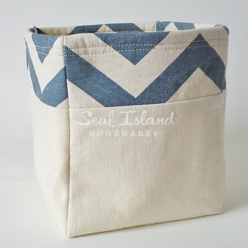 Handmade Fabric Storage Baskets : Fabric storage basket box seal island homewares